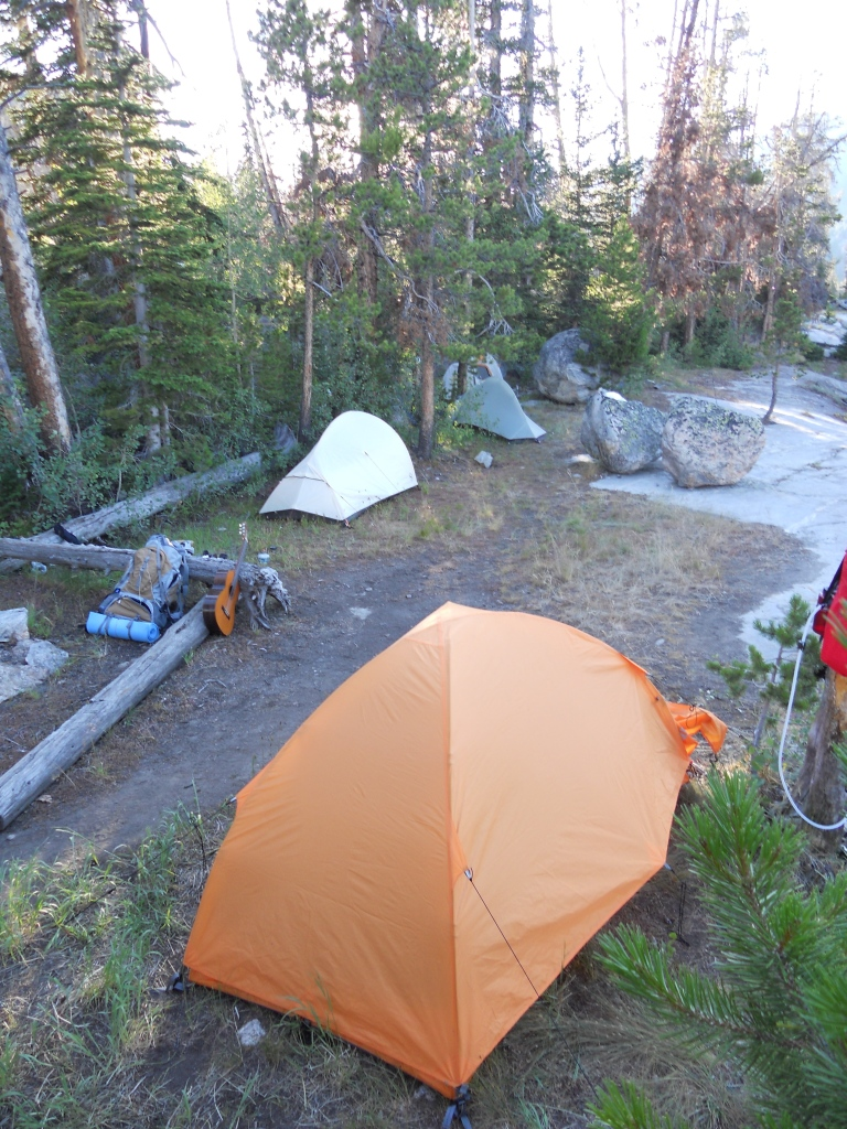 First night's campsite at Lower Twin Lake.