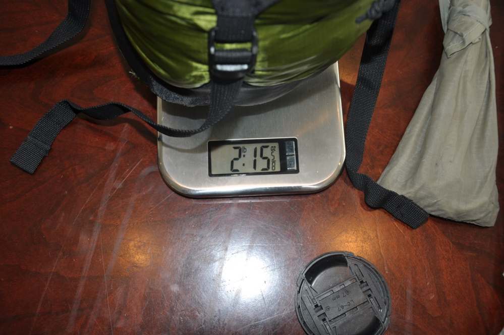 Fly, footprint, and tents with compression bag weigh 2 lbs 15 ounces.